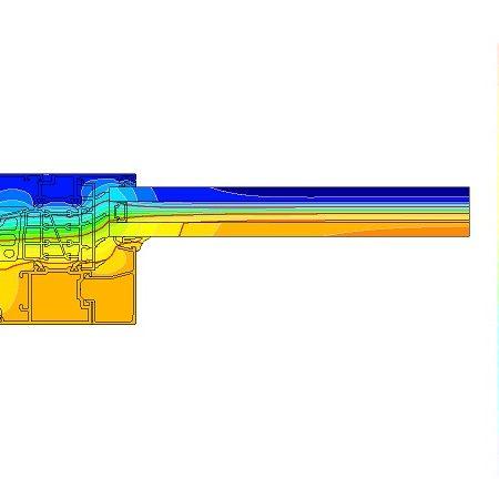 窓断面の温度分布シミュレーション