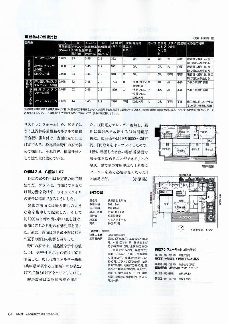 日経アーキテクチュア2006/3-13に掲載されました