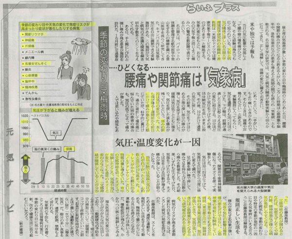 「温度と気圧が健康に大きな影響を与える」という記事
