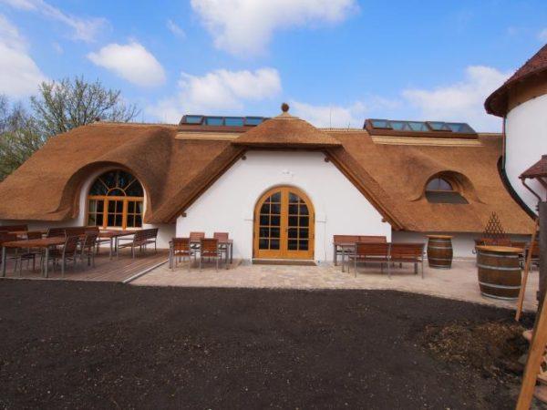 オーストリアの伝統建築にも葦(アシ)葺屋根があり、出来たてが強烈に綺麗でした!!